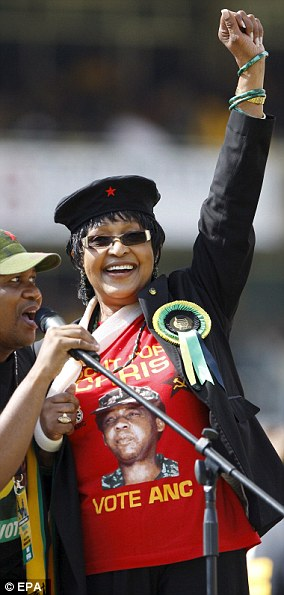 Winnie spent 38 years married to Nelson, 27 of which were spent apart, separated from him in 1992 and divorced in 1996