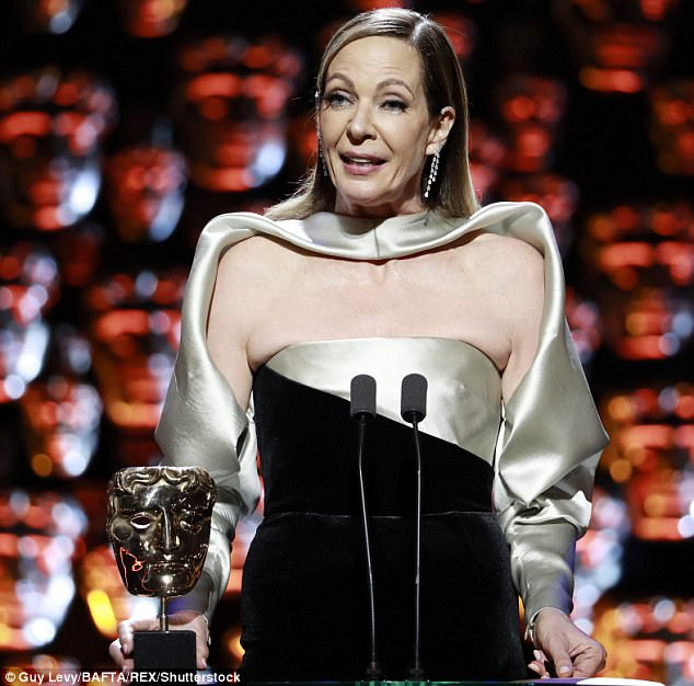 Critically acclaimed: The actress is shown after winning on Sunday at the BAFTA Awards