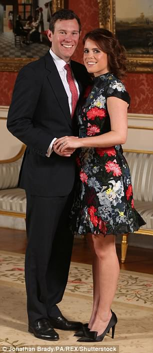 Princess Eugenie chose a frock by the designer for her engagement pictures