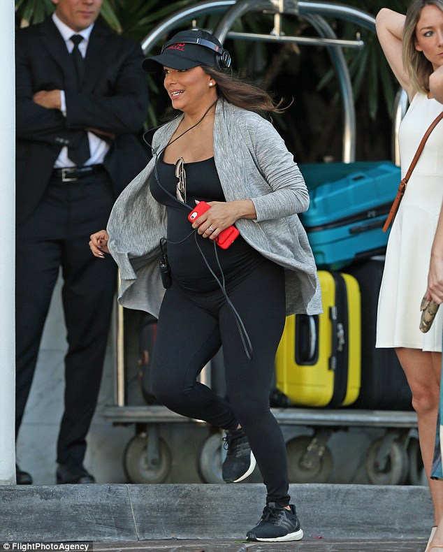 Run for it! The actress looked healthy and happy as she was busy running around producing her new drama Grand Hotel for ABC
