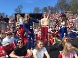 Norwegian youngsters celebrating during the annualRuss post-high school blow out (file photo)