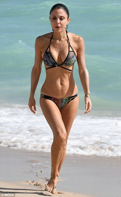 When you got it:The 47-year-old showed off her chiseled figure in a skimpy two-piece when she was photographed taking a dip in the surf on Wednesday