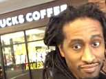 Bryan Sharpe, a comedian and author who goes by ' Hotep Jesus ' on social media, posted the video of him walking in a coffee shop and asking for the cup