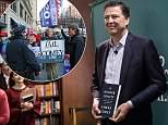Former FBI director James Comey told a crowd in New York that there is a 'collection of people, CIA, NSA, FBI' working toward what they see as the interests of the United States