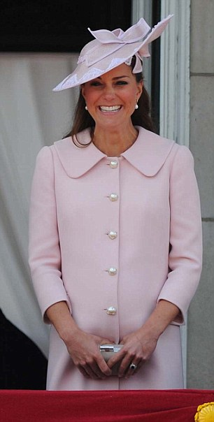 The Duchess began her first maternity leave after attending Trooping of the Colour in 2013