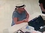 Lois Riess, 56, who has been on the run after killing her husband and a woman in Minnesota and Florida has been spotted on hotel CCTV wearing her female victim's hat