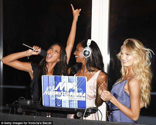 Model take over!The model simply captioned the photo: 'When Dj Tookes takes over'