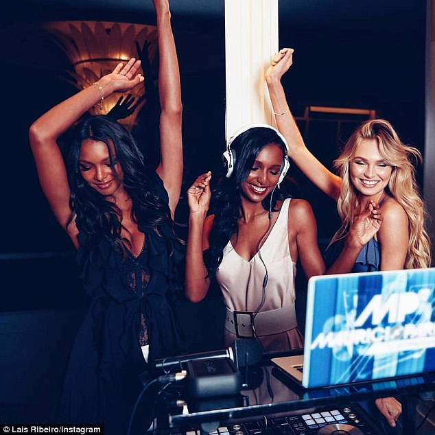 Lais also made sure to share photos of herself and the other Angels taking over the DJ booth on her social media accounts