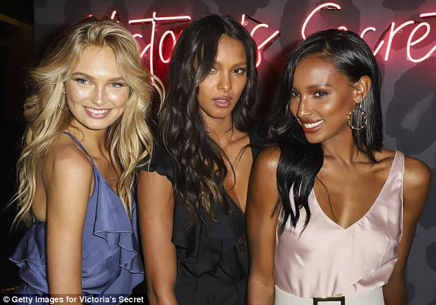 Out to play!The two later swapped their polka-dot ensembles for silky dresses as they were spotted at the next VS event