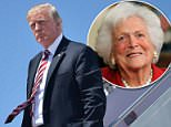 President Donald Trump won't be joining his wife in attending the memorial service of former first lady Barbara Bush