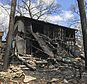 This photo provided by KYTV in Springfield, Mo., shows the aftermath of a fire that killed multiple children early Thursday, April 19, 2018, in Lake Ozark, Mo. (Mike Landis/KYTV via AP)