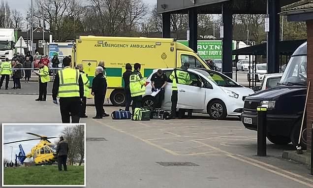 Six pedestrians are injured after 80-year-old driver ploughs into crowds