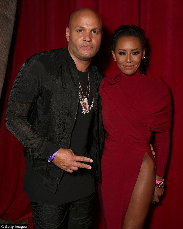 Difficult: Despite being granted a divorce from Mel B in December, he is still in the midst of a bitter court battle for access to visit the Spice Girl's daughter Angel (pictured July 2016)