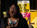 Shadow Home Secretary Dianne Abbott, pictured, addressed a demonstration in Windrush Square, Brixton today in support of Caribbean migrants under threat of wrongful deportation