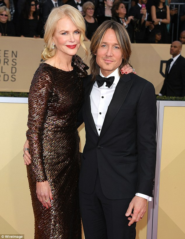 Big love: Nicole and Keith at the Screen Actors Guild Awards at The Shrine Auditorium on January 21, in Los Angeles