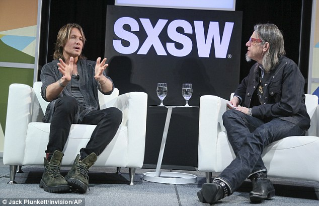 Sweet tribute: Keith Urban thanked wife Nicole Kidman for helping him write better love and relationship songs, in a Q&A with the Grammy Museum's Scott Goldman for SXSW on Friday