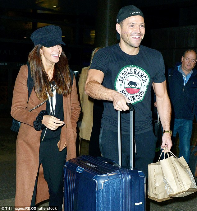Alone time: Michelle was recently reunited with her husband Mark Wright in LA, after he moved to Hollywood to establish a TV presenting career