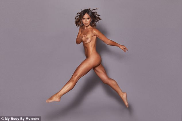 Wow: For the promo snaps, the petite beauty smouldered down the camera as she displayed her gym-honed curves while leaping in the air for the perfect action shot
