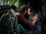 """This image released by Paramount Pictures shows John Krasinski, left, and Noah Jupe in a scene from """"A Quiet Place."""" (Jonny Cournoyer/Paramount Pictures via AP)"""