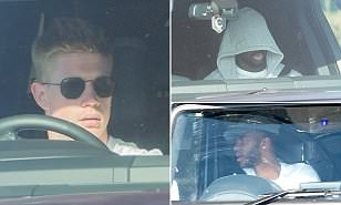 Man City stars arrive for training as they target record points tally