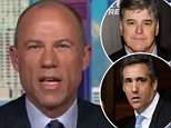 Stormy Daniels' lawyer, Michael Avenatti (above), has claimed that the relationship between President Donald Trump's personal attorney, Michael Cohen, and Fox News pundit Sean Hannity is 'far more extensive' than either has let on