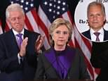 Bill Clinton (seen left with his wife, Hillary Clinton and her running mate, Tim Kaine on November 9, 2016) reportedly spread a rumor that The New York Times made a secret deal with Donald Trump to destroy her chances of becoming president