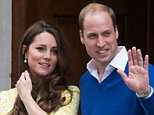 The Duke and Duchess of Cambridge outside the Lindo Wing in 2015 after Charlotte's birth