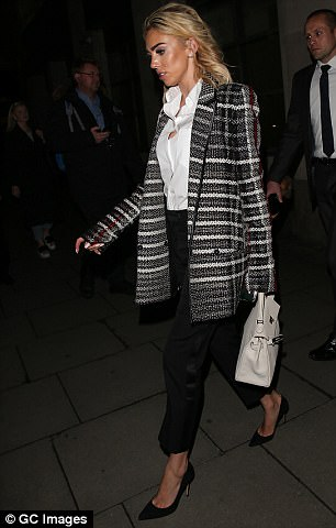 Petra Ecclestone arrived in court on Tuesday