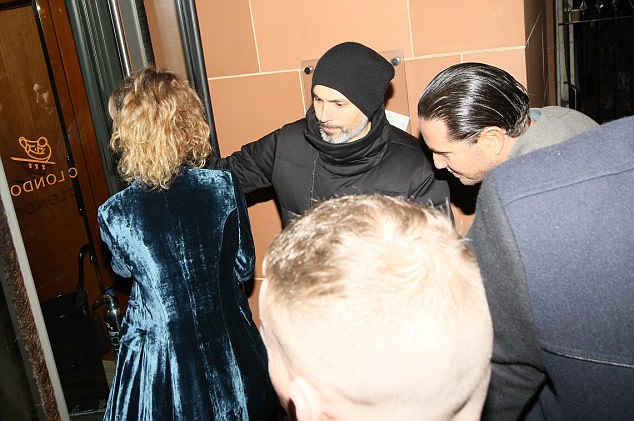 Stunt, 36, was pictured entering the Italian restaurant weeks after he is claimed to have reported the burglary at his home