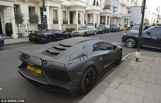 Another of Stunt's expensive vehicles is pictured as he moved into his new Belgravia home in December