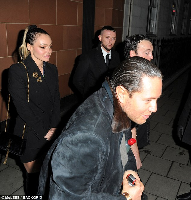 Stunt was seen with an array of female companions as he left the Mayfair restaurant in central London at the weekend