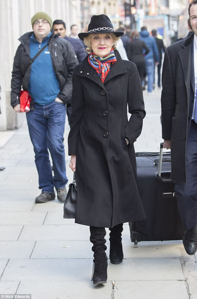 Petra is being represented at the hearing by Baroness Fiona Shackleton, pictured, who previously acted on behalf of Sir Paul McCartney during his divorce with Heather Mills