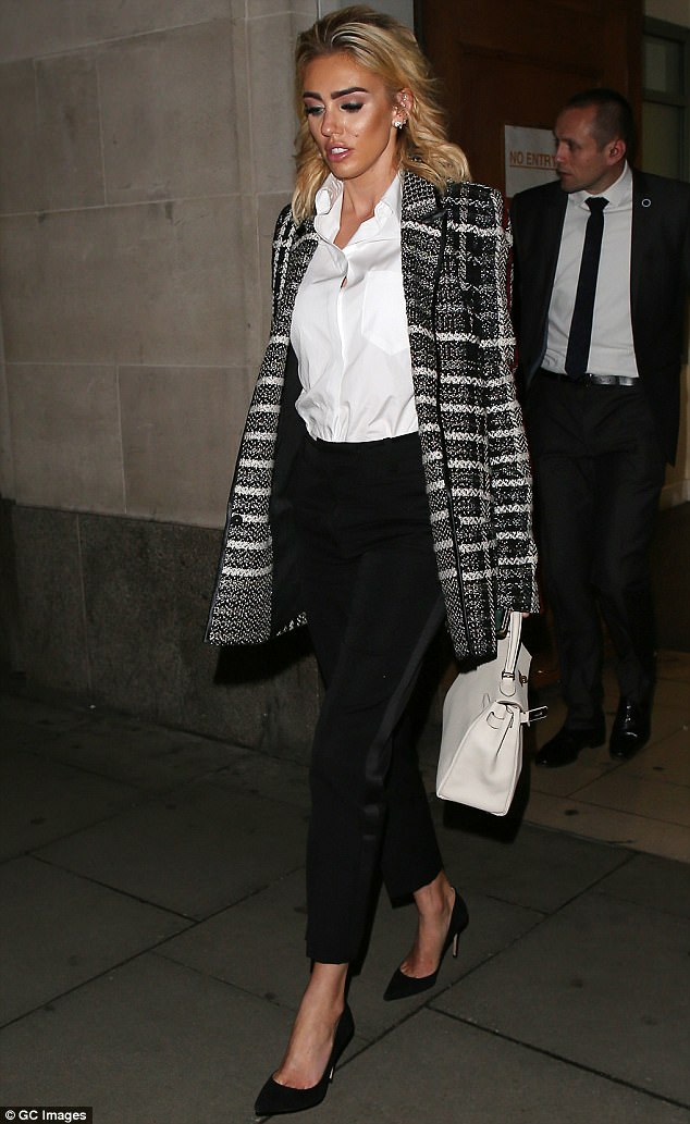 Petra Ecclestone photographed leaving the Central Family Court after the second day of the divorce hearing on Tuesday