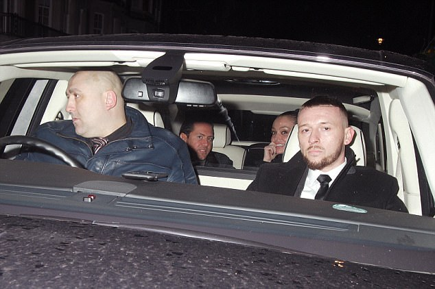 Last night he was driven by his security people as he and an unknown woman were taken to The Box in Soho