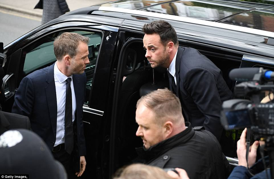 McPartlin was driven to the court appearance in a black mini-van after the crash last month