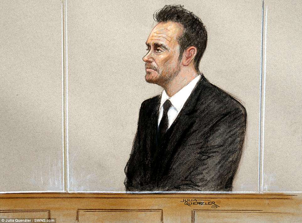 A court sketch of Ant behind the glass-fronted dock at Wimbledon Magistrates Court. He spoke only to confirm his details and plead guilty to drink driving. His lawyer told the court he was struggling with 'alcohol and emotional issues' at the time