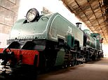 British relic: A century-old British locomotive called Nellie has been restored after lying hidden in a warehouse in Sierra Leone for decades