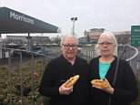 Linda and Tony Gilkes (pictured) were refused meat pies before 9am in the Berwick Hills Morrisons in Middlesbrough