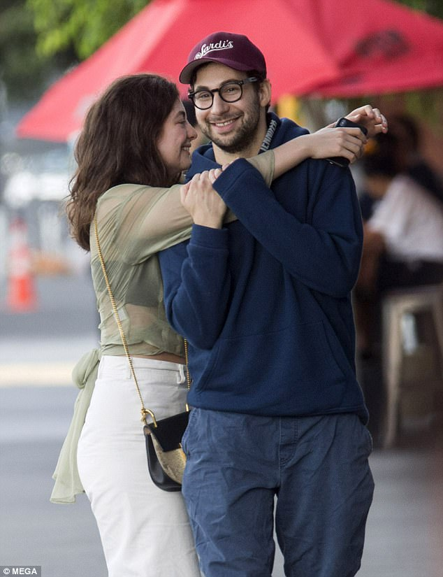 Moving on: Meanwhile, on Wednesday, Bleachers frontman Antonoff, 33, was snapped playfully cuddling up to singer Lorde, 21, in her native New Zealand
