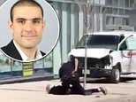 Footage has emerged showing an intense standoff between a Toronto police officer and the suspect behind the horror van rampage that left 10 dead and 15 injured on Monday