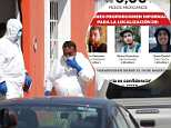 Three Mexican film students who went missing inGuadalajara, in Jalisco State, Mexico, were kidnapped, tortured, killed and dissolved in acid. Pictured: Jalisco Institute of Forensic Sciences work at a house connected to their disappearance
