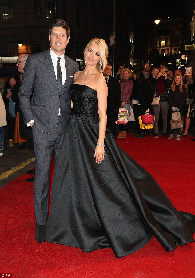 Happy couple: Tess and Vernon attended Bruce: A Celebration at the London Palladium together in style last month