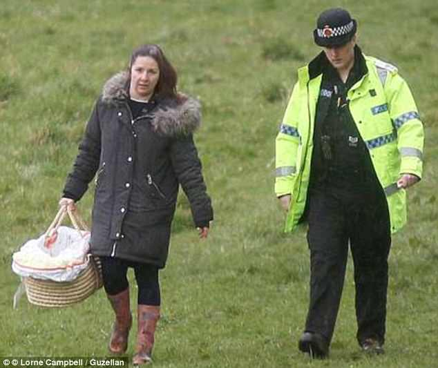 A police officer brought a pink moses basket from home to carry away Pearl to give her the dignity she deserved