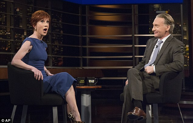 Announcement: Last week Griffin announced that she had just booked upcoming shows at New York's Carnegie Hall and at Washington DC's Kennedy Center during an appearance on HBO's Real Time With Bill Maher (above)