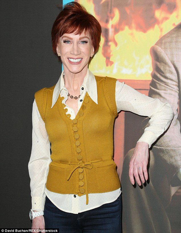 Denied: Kathy Griffin had a win in her legal battle with neighbor Jeffrey Mezger this week, as his request for a restraining order against the actress/comedian was denied in court. Above the star is seen March 13