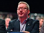 Union baron Len McCluskey (file image) today defied Jeremy Corbyn to brand anti-Semitism allegations by Labour MPs as 'smears'