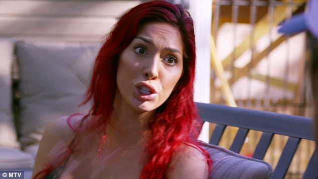 Drama: Ms Abraham doesn't like it when she's told she is difficult on Monday's episode of Teem Mom OG