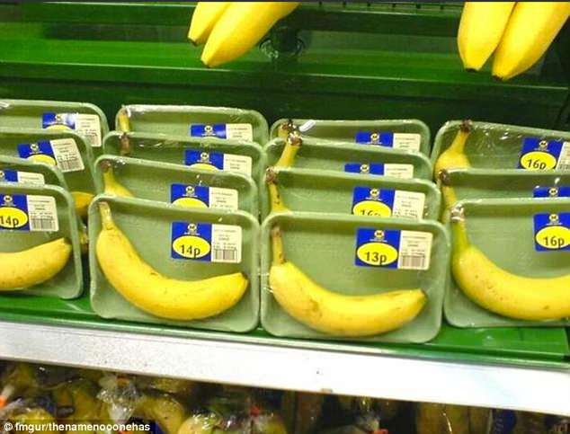 This shopper hilariously commented on this picture with: 'If only bananas had robust, natural, bio degradable packaging of their own'