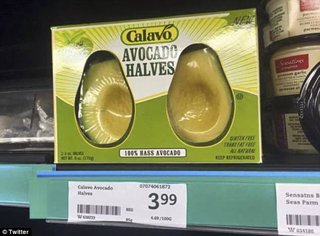 Avocados have a natural coating that protects the insides from degrading - but this retailer has wrapped them in lots of plastic and bumped up the price just for convenience
