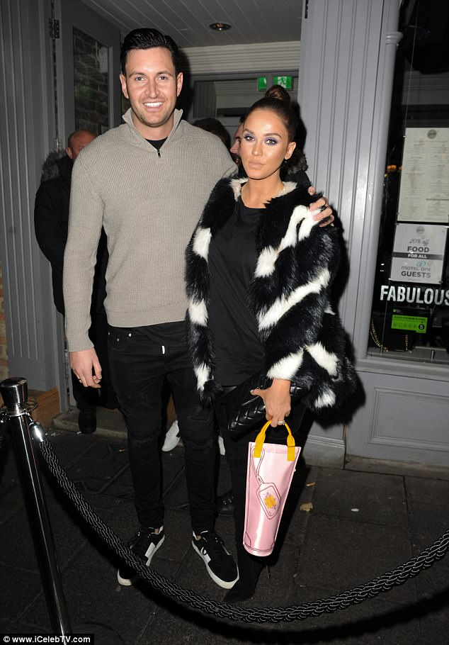 Cute couple:She recently relocated to her 'dream home' in Newcastle with fiancé John Noble. So it was no surprise that Vicky Pattison looked in good spirits as she enjoyed a night out with her beau at YOLO Townhouse in the city on Saturday